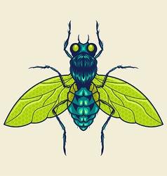 flies mascot vector image