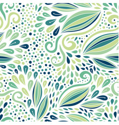 floral seamless pattern green modern ornament vector image