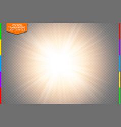 golden glowing light burst explosion on vector image vector image