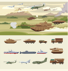 military transport concept vector image vector image