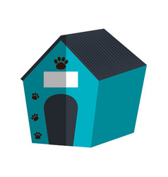 Pet wooden house icon vector