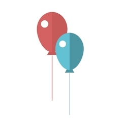 Set of colorful balloons good for birthday vector image
