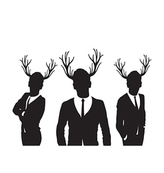 stag group vector image vector image