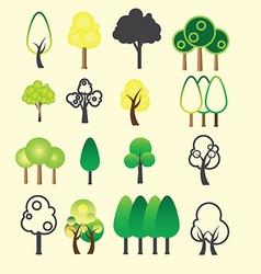 0108 Tree icon vector image