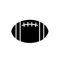 american football icon black vector image