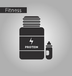 Black and white style icon bank of protein vector