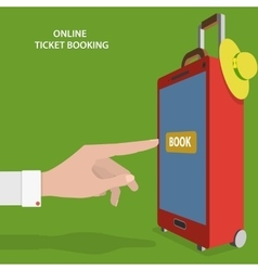 Online Ticket Booking Flat Concept vector image