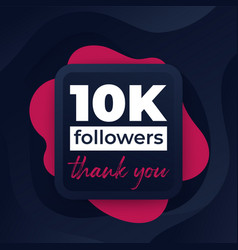 10k followers greeting banner for web vector