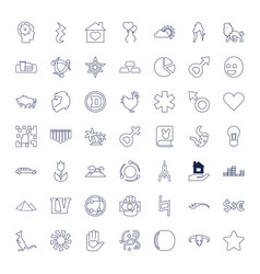 49 abstract icons vector