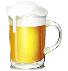 A glass of cold beer vector image