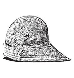 A spanish helmet vintage engraving vector