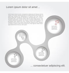 Abstract black-white web design vector image vector image