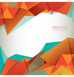 Abstract triangle shape background layout vector