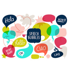 acronym chat bubble vector image