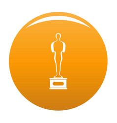 Award icon orange vector