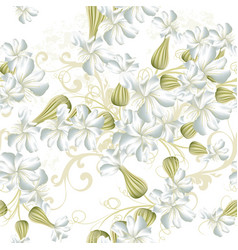 Beautiful seamless wallpaper pattern with flowers vector