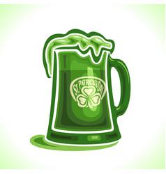 beer mug for st patricks day vector image