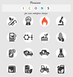 Bio fuel icon set vector