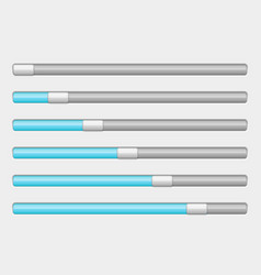 blue and white slider bar settings on control vector image