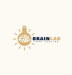 Brain lab logo vector