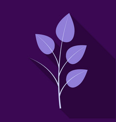 branches silhouette isolated on color background vector image