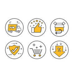 Business ecommerce icon set vector