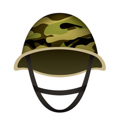 camo helmet of army mockup realistic style vector image