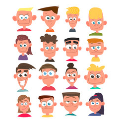 characters avatars in cartoon flat style vector image