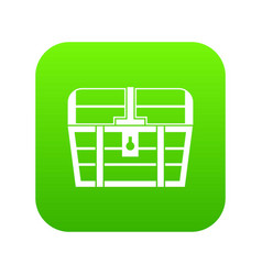 chest icon digital green vector image