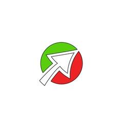 Click icon logo vector image
