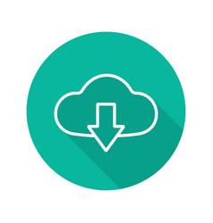 cloud storage files download flat linear long vector image
