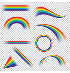 Colorful realistic multicolored rainbow on vector