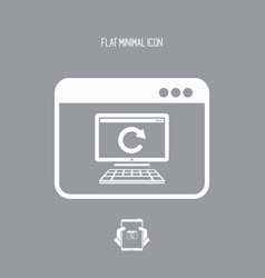 Computer updates - flat minimal icon vector