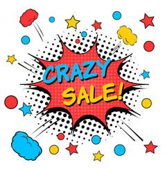 Crazy sale comic concept vector