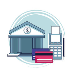 credit card and bank vector image