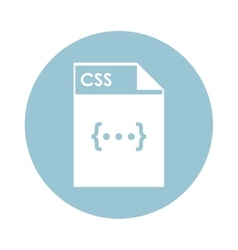 CSS file icon vector