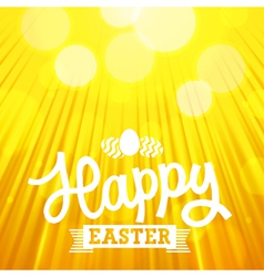 easter background rays orange vector image