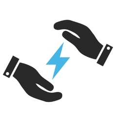 Electricity Care Hands Eps Icon vector