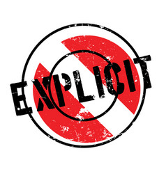 Explicit rubber stamp vector
