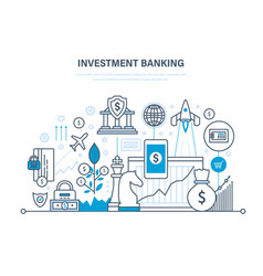 Financial investments banking transactions vector