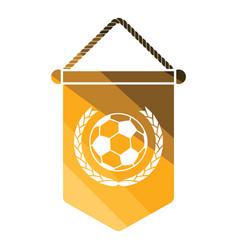 Football pennant icon vector