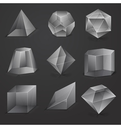 Glass geometrical cubes vector