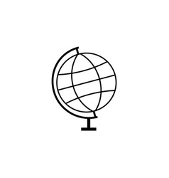 Globe line icon school and education element vector