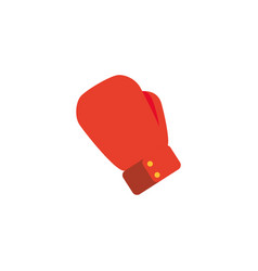 glove boxing workout accessory flat icon vector image