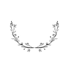 gray scale decorative half crown with olive fruits vector image