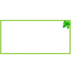 Green apple rectangle banner border with festive vector