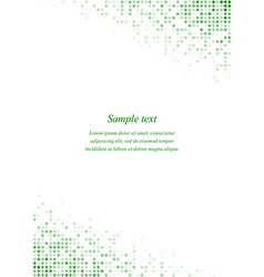 Green page corner design template vector image
