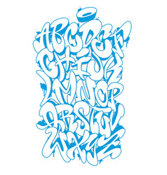 Handwritten graffiti font alphabet vector