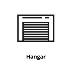 hangar line icon vector image
