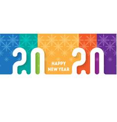 happy new year 2020 bright brochure or calendar vector image